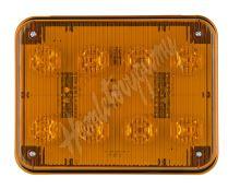 kf024 x PREDATOR LED obdélníkový 12/24V, 8x 3W oranžový