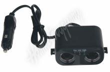 34503 dvojitá CL zásuvka s kabelem 100cm a CL zástrčkou
