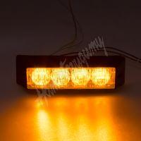 911-E4 PROFI výstražné LED světlo vnější, 12-24V, oranžové, ECE R65