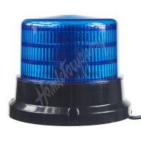 911-75mblu PROFI LED maják 12-24V 36x0,5W modrý magnet ECE R65 167x132mm