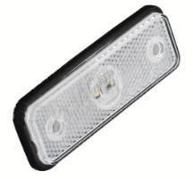 kf661E Přední obrysové světlo LED, bílý obdélník, homologace