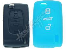 481PG104blu Silikonový obal pro klíč Peugeot, Citroën, 3-tlačítkový, modrý