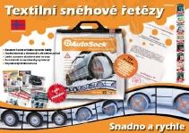 Textilní sněhové řetězy AutoSock pro TRUCK nákladní vozy velikost: AL69
