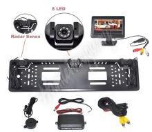 """ps2spzcam43 Parkovací systém s kamerou a 2 senzory v SPZ, 4,3"""" monitor"""