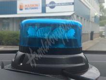 911-C12mblu PROFI LED maják 12-24V 12x3W modrý magnet 133x76mm, ECE R65