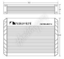 nksa60.4 NAKAMICHI zesilovač 4x60W, 2x120W RMS