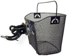 Ocelový košík na řidítka kola