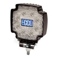 Pracovní LED světlo ECCO, 8 x 3W LED, 12-24V, bílé, EW2102