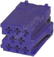 25005mod Konektor MINI ISO 8-pin bez kabelů - modrý