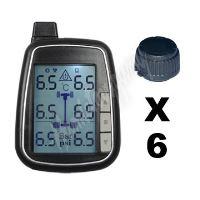 tpms601 TPMS kontrola tlaku v pneumatice 6 externích čidel