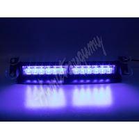 kf752blue PREDATOR LED vnitřní, 12x3W, 12-24V, modrý, 353mm, ECE R10