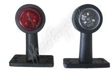 trl022 Poziční LED (tykadlo) gumové - červeno/bílé,  12-24V, ECE