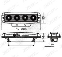 VZ22 LED BAY15D - dvouvlákno, bílá, 12V, 13LED/5630SMD