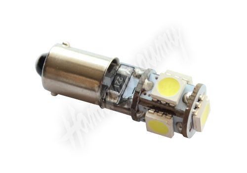 95401cb LED BAX9s bílá, 12V, 5LED/3SMD