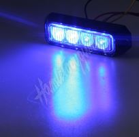 kf004E3Wblu PREDATOR 4x3W LED, 12-24V, modrý, ECE R10
