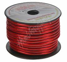 31111 Kabel 10 mm, červeně transparentní, 25 m bal