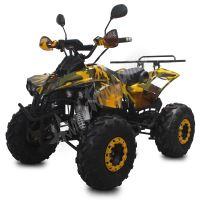 Dětská elektro čtyřkolka ATV Warrior XL 1500W 60V maskáč žlutý