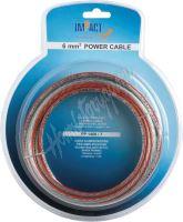 pp1410/7 x Napájecí kabel IMPACT 10 mm2 transparentní, role 7m