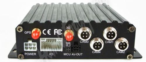 PZ20 Černá skříňka -  se záznamem obrazu, GPS ze 4 kamer, 3G