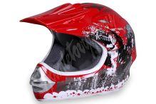 Dětská cross helma Xtreme - červená