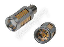 95C-BA15S-135or LED BA15s oranžová, 12-24V, 135LED/4014SMD