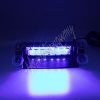 kf751blue PREDATOR LED vnitřní, 6x3W, 12-24V, modrý, 210mm, ECE R10