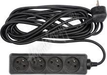 Kabel prodlužovací 5 m 4 zásuvky