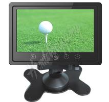 """ic-706t LCD monitor 7"""" do opěrky s IR vysílačem černý"""