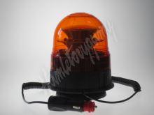 wl84 LED maják, 12-24V, 16x3W, oranžový magnet, ECE R65