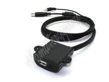 551uni USB+JACK 4pólový zásuvka univerzální