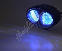wa-008b PROFI LED výstražné bodové světlo 10-48V 2x4W modré 143x122mm, R10