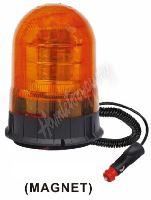 wl87 LED maják, 12-24V, 18x3W, oranžový magnet, ECE R65