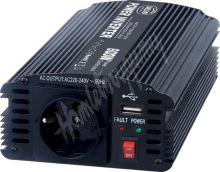 35624 Měnič napětí z 24/230V + USB, 600W