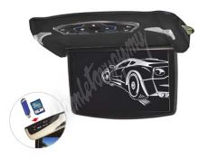 "ds-x13d x  Stropní monitor 13,3"" šedý s DVD/SD/USB + výměnný kryt černý"