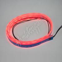 LFT60slimred LED silikonový extra plochý pásek červený 12 V, 60 cm