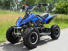 Dětská čtyřkolka ATV Racer 49cc + elektro starter modra barva