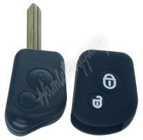 481CT103bla Silikonový obal pro klíč Citroën 2-tlačítkový, černý
