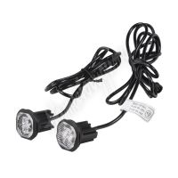 kf312blu 2x PROFI výstražné LED světlo vnější modré, 12-24V, ECE R65