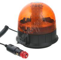 wl192 LED maják, 12-24V, 40x 5730SMD LED, oranžový magnet, ECE R10