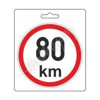 Samolepka omezená rychlost 80km/h (150 mm) TIR
