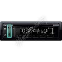 KD-T801BT JVC autorádio s CD/MP3/USB/AUX/Bluetooth připojení/bílé podsvícení/odním.panel