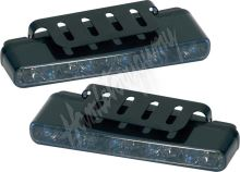 sj-296SL LED světla pro denní svícení, 160x25mm, kouřová skla, ECE