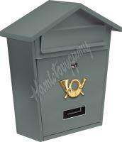 Poštovní schránka se stříškou 380x320x105mm šedá