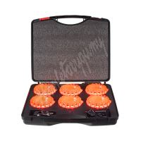 wl-h02set6ora LED výstražné světlo 16LED, oranžové, set 6ks