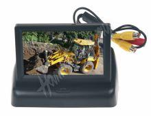 """80055B Výklopný monitor 4,3"""" černý na palubní desku"""