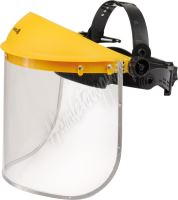 Helma s polykarbonátovým štítem