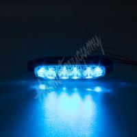 911-x6blu PROFI výstražné LED světlo vnější, modré, 12-24V, ECE R65