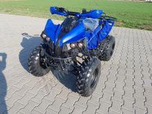 """Dětská čtyřtaktní čtyřkolka ATV BigWarrior DELUX 125ccm modrá 3 rych. poloaut. 10"""" k"""
