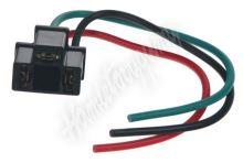 46028 Relé patice s kabely černá, 3-vývody
