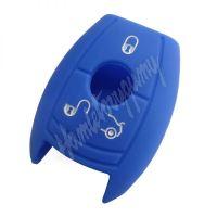 481MC101blu Silikonový obal pro klíč Mercedes 3-tlačítkový, modrý